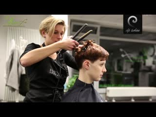 Medium wavy hair to short pixie haircut | extreme makeover by jacky
