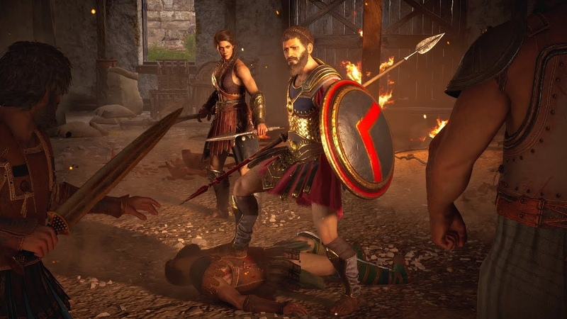 Assassin's Creed Odyssey Epic Spartan Battle Cutscene