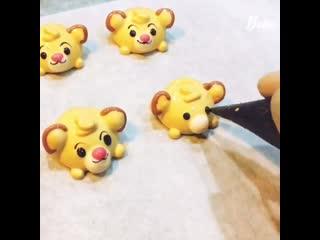 Видео-урок по созданию мимишных мордашек Lion King #simba