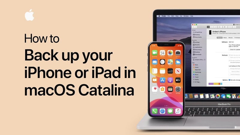How to back up your iPhone or iPad in macOS Catalina — Apple Support