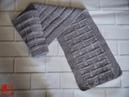 Мужской шарф эффектным узором Шарф узором рис или путанка