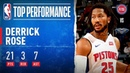 Derrick Rose Knocks Down Game Winner POURS in 17 PTS in 4th Quarter