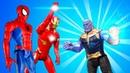 Новые игры с Супергероями Мстители и Человек Паук против Таноса Онлайн видео