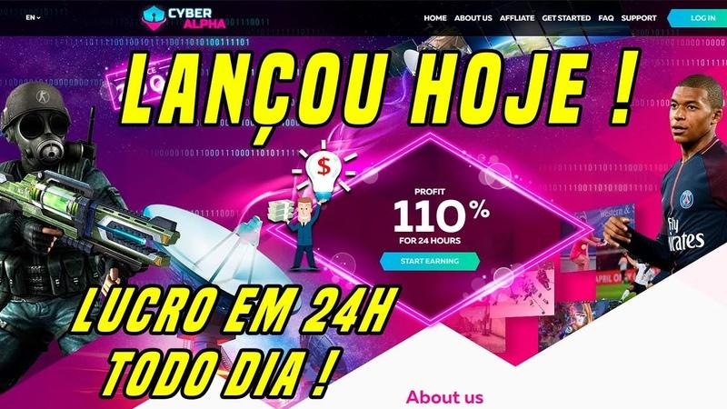 VOLTEI ! Cyber Alpha 110% em 24 horas investimento de $50 CORRE !