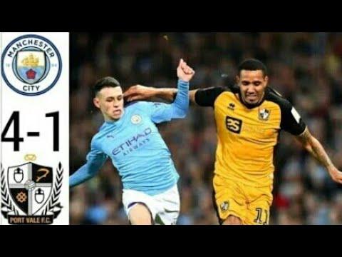 Манчестер Сити 4-1 Порт Вейл обзор матча