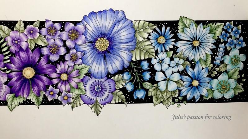 WORLD OF FLOWERS by Johanna Basford prismacolor pencils color along