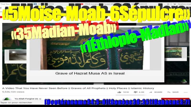 MOÏSE PERSONNE N A CONNU SON SEPULCRE JUSQU A CE JOUR Deu34 5 6 MOAB MADIAN ETHIOPIE Ge36 35 Ha3 7 Ex2 15
