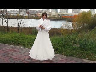 Прекрасная Невеста Татьяна в красивой свадебной шубке, взятой у нас напрокат! Аренда прокат свадебных шубок +79107937026