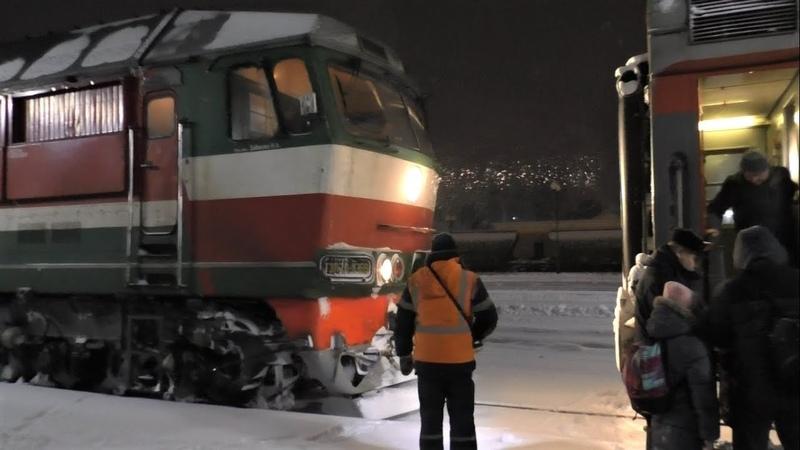 Перецепка вагонов к поезду №84 Гомель Санкт Петербург на станции Могилев I