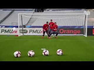Футбольные упражнения для вратарей от Сборной Франции