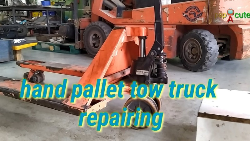 On how to repair Hand pallet tow truck cannot lift heavy load