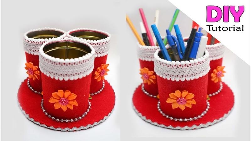Ide Kreatif Kaleng Bekas rokok jadi tempat pensil Kaleng Bekas Kreatif kerajinan tangan