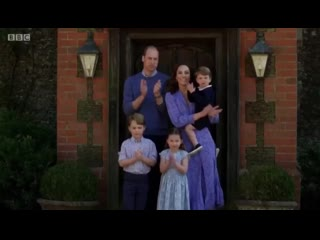 The Cambridge Family join in with the Clap For Carers