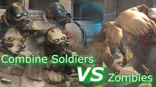 Half-Life Alyx Battle: Combine Soldiers VS Zombies