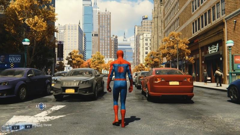 Marvel's Spider-Man (2018) - Open World Free Roam Gameplay (PS4 HD) [1080p60FPS]