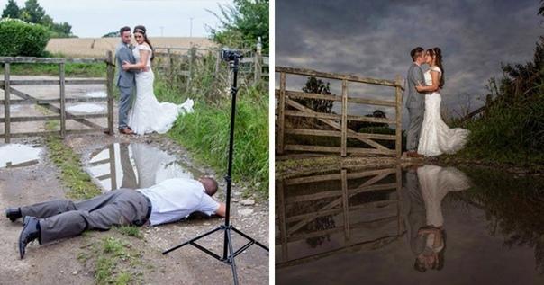 Работа фотографа и её результат на одной картинке.