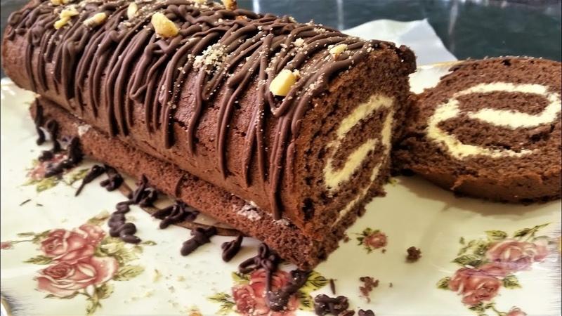 Обалденный шоколадный рулет самый простой рецепт-Ани Кухня! » Freewka.com - Смотреть онлайн в хорощем качестве