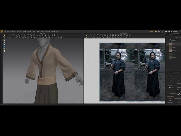 Samurai sculpt ○ Part 5 ○ Marvelous Designer