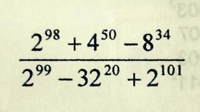Expressão com potências Você consegue resolver Matemático Teca