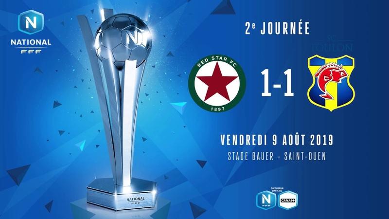 J2 : Red Star FC - SC Toulon (1-1), le résumé I National FFF 2019-2020