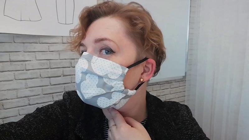 Пошив маски без машинки С максимальным прилеганием и зажимом по переносице