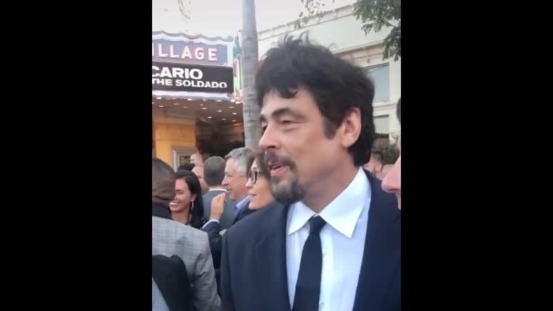 Бенисио на премьере Сикарио 2 2018