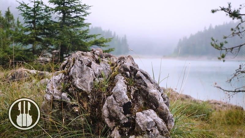 Расслабляющий отдых на берегу горного озера Звуки ветра птиц и плеск воды