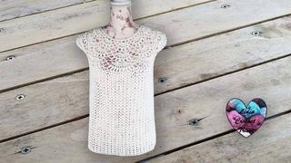 Blouse femme délicate S M L et XL Lidia Crochet Tricot