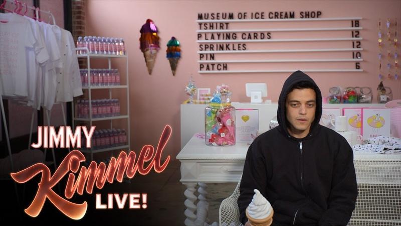 Mr Robot's Rami Malek Visits the Museum of Ice Cream