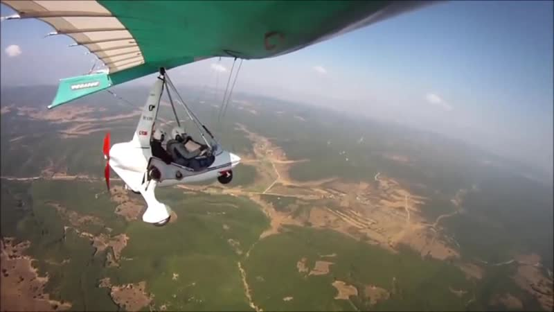 Flight from THK İnönü to Yenişehir Airport by Microlight. Part2