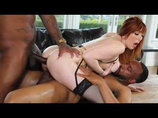 Lauren Phillips - Two Big Black Cock (DP, Anal, Threesome, IR, Big Tits, Stockings, Redhead, Tattoos, Facial, Swallow)
