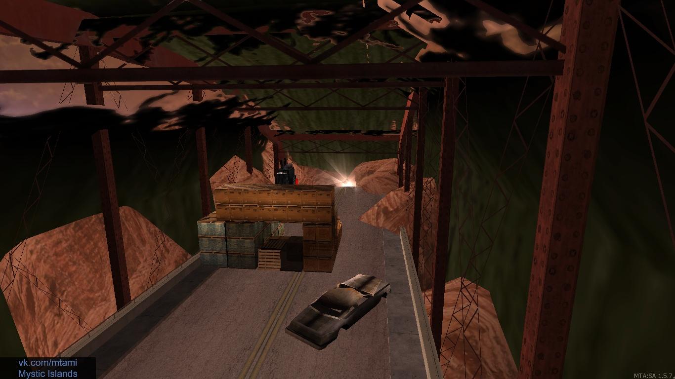 Старая аномалия, но теперь с названием «Мост». Расположена у воды и даёт топливо.