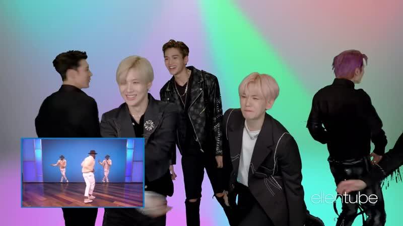 Taemin Recreates Ellen's Favorite tWitch Dance Moves]