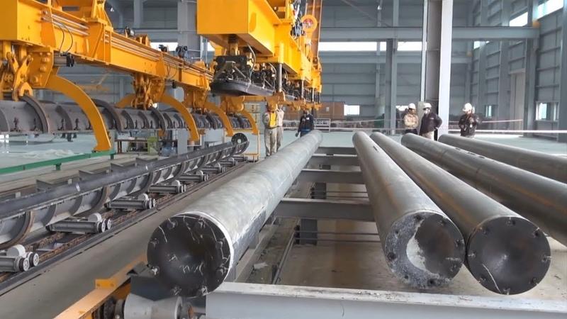 Đây là cách người ta làm cọc bê tông và cột điện ly tâm - Dây chuyền sản xuất cọc bê tông PHC