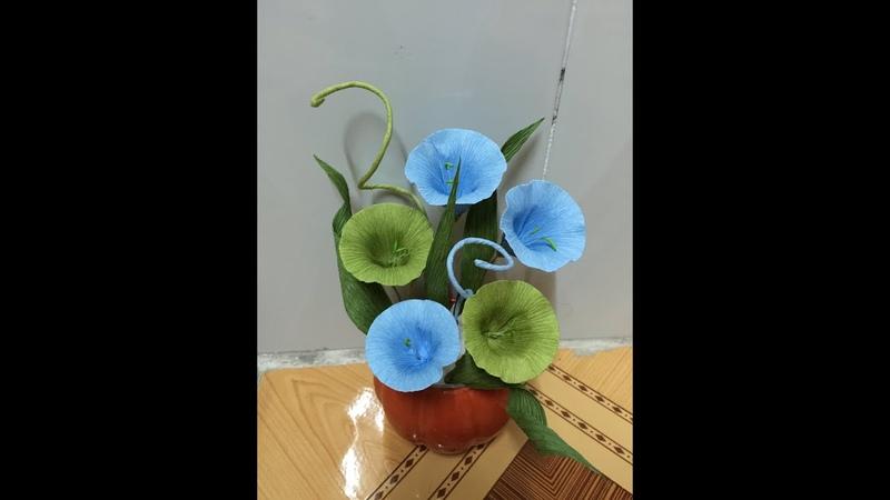 Làm hoa rau muống đẹp đơn giản cách làm hoa bằng giấy ngoctrucchannel