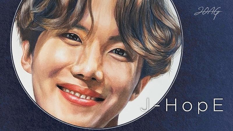 BTS Drawing j hope BTS Zeichnung 방탄소년단 제이홉 정호석 그리기