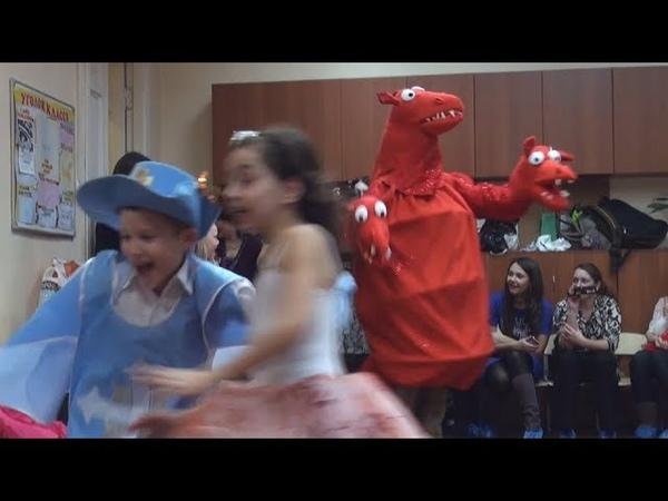 Новогодний утренник в детском саду 2011 Появление Змея Горыныча