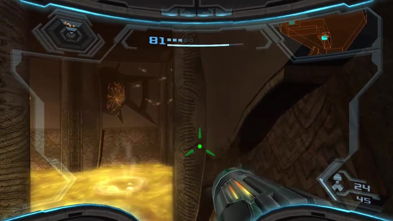 Metroid 7x27 Wii Metroid Prime 3.22 Destruyendo el Generador del Campo Protector en el Este de Bryyo
