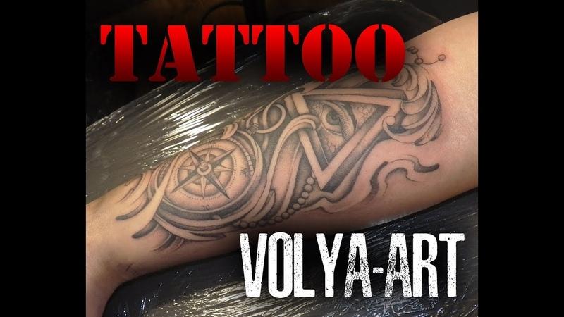 Tattoo (компас и всевидящее око) VOLYA-ART
