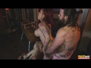 rebecca smyth, jennifer keelings (fake sex club episode 1) [all sex, threesome, blowjob, big tits]
