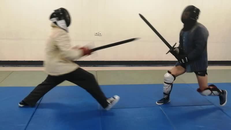 Фехтовальный клуб СКИФ. Бой на полуторных мечах 2