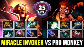 MIRACLE Invoker vs Master Tier Pro Monkey King - Full Slotted Battle  Dota 2