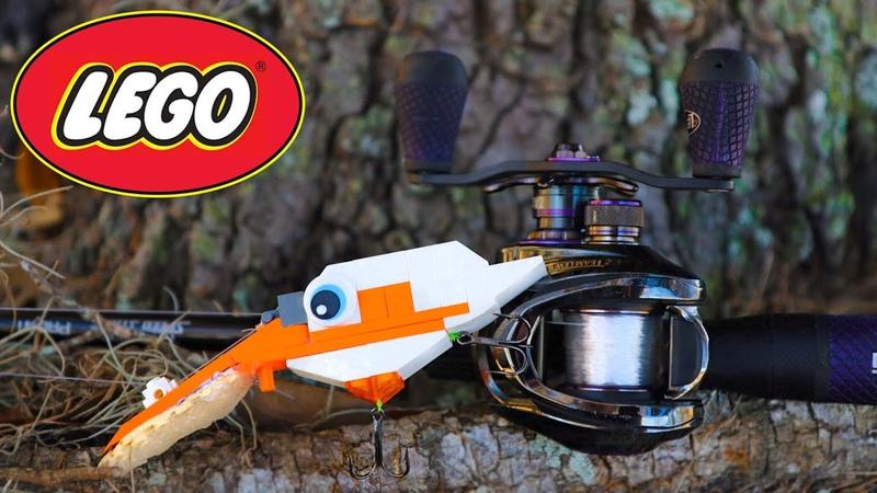 GIANT Bass Crushes DIY LEGO Crankbait!