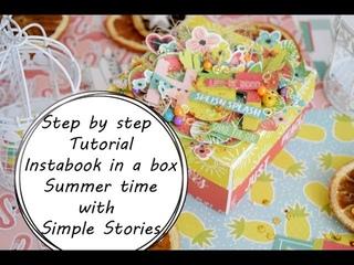 МК альбом в коробке|Step by Step Tutorial Instabook in a box with Simple Stories by Ragozina Olya