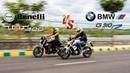 BMW G310R vs Beneli TNT300 DRAG RACE and exhaust note comparison