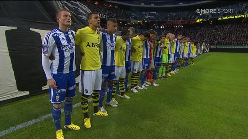AIK - IFK Göteborg 2013 . В память о вратаре АИК Иван Турина