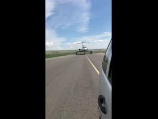 Ту-154Б-2 из follow me car