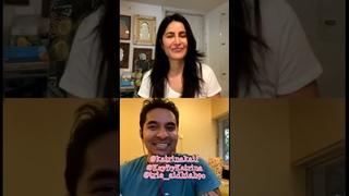 Katrina Kaif Live in Instagram KayByKatrina. And make conversation with Coach Luke Coutinho - Today