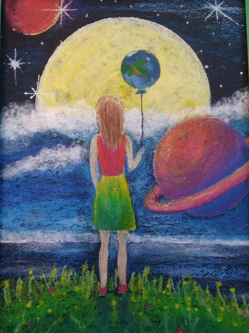 Поздравляем победителей и участников Республиканской выставки- конкурса детского творчества «Просторы вселенной»
