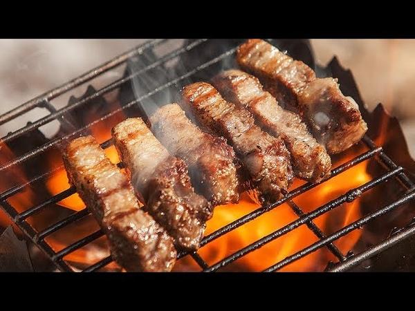 숯불 삼겹살 구이 / Pork belly BBQ / Camping, Cooking / 캠핑요리 / 캠핑한끼